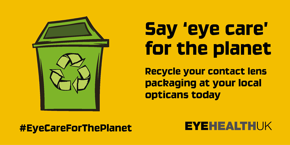 Recycle your contact lenses.